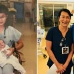 Enfermeira descobriu que seu novo colega de trabalho era o bebê prematuro que ela cuidou há 28 anos