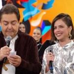 """Agatha Moreira fica emocionada com mensagem da mãe no """"Domingão do Faustão"""""""