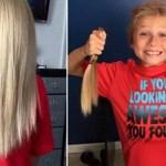 Mesmo sofrendo bullying, menino de 8 anos deixa cabelo crescer para ajudar crianças com câncer
