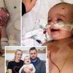 Depois de passar cinco dias em coma, ela acorda sorrindo para o pai