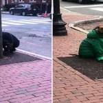 Mulher foi proibida de entrar com seu cão nos correios. Então, colocou o casaco dela para ele não sentir frio