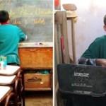 Menino de 12 anos abre escola no seu quintal para oferecer estudo a crianças carentes