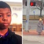 Seguindo o conselho da irmã, este menino ajudou uma idosa a atravessar a rua em segurança