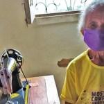 Maranhense, de 87 anos, produz máscaras para ajudar no combate ao coronavírus