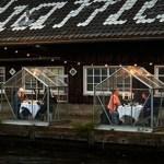 Restaurante cria cabanas individuais para receber clientes em tempos de pandemia