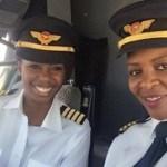 Elas são a primeira dupla de mulheres negras pilotar um Boeing 737