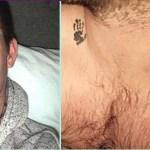 Um pai faz uma tatuagem das pequenas mãozinhas do filho nascido sem vida para sentir sempre o seu abraço frágil