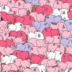 Você consegue encontrar um pequeno coração no meio desta manada de elefantes? Nem todos conseguem!