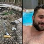 """Homem """"fica sem palavras"""" depois de encontrar uma enorme piscina escondida em seu quintal"""