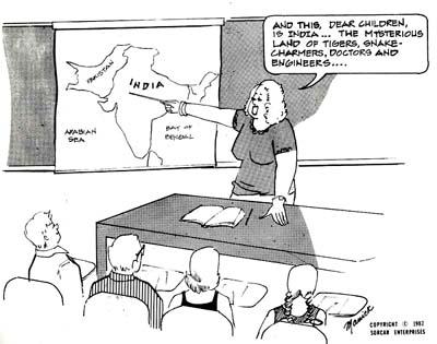 Manick Sarkar - does magic with cartoons also