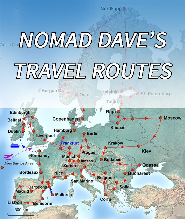 Nomad dave nomad roys adventure travel blog manic nomads daves routes map gumiabroncs Image collections