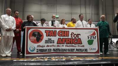 Tai Chi for Africa - striscione