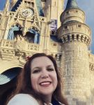 Anika at Cinderella Castle in the Magic Kingdom