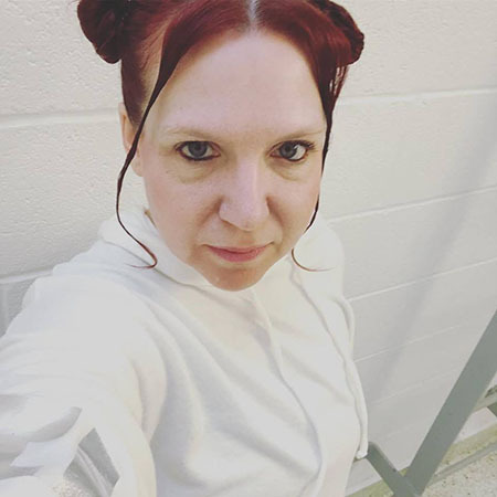Anika dressed in the style of Princess Leia