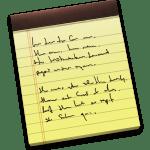 新しいアプリケーション メモ