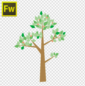手順③Fireworks側の画面 改めて木のベクターをFlashにコピペします。
