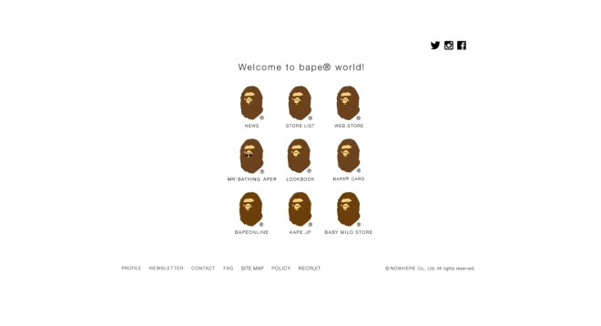 BAPE.COM A BATHING APE OFFICIAL SITE