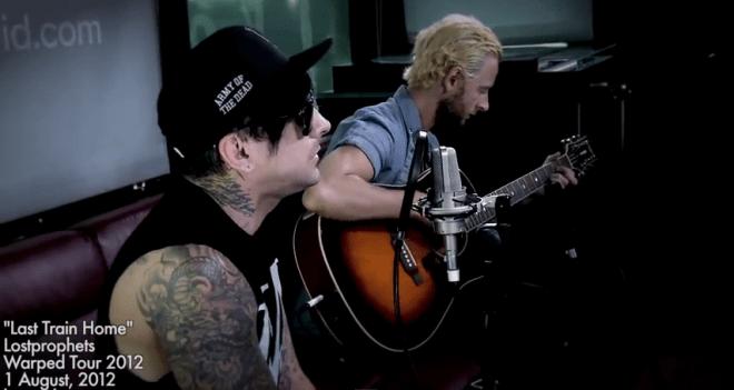 Lostprophets(ロストプロフェッツ)のWarped Tour 2012での「Last Train Home」アコースティックテイク