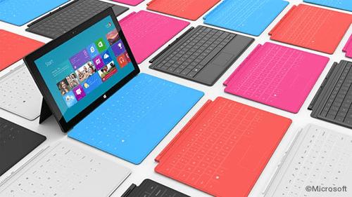 Surface はタブレットだが、厚さ 3mm のマグネット式の着脱カバー「Touch Cover」が付属しているのが特徴。