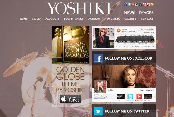 The official site of Yoshiki