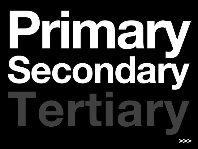 primary secondaryの次は?『tertiary』でOK