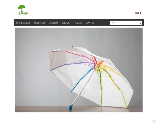 Ginkgo | 風に強くて環境にもやさしいポリプロピレン製の傘