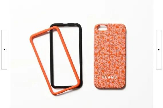 GRAPHT × BEAMS / Keith Haring iPhone5・5Sケース ©zozo.jp