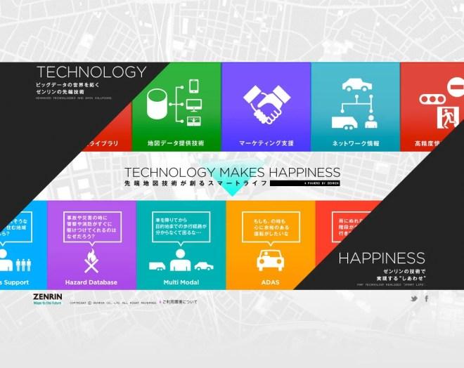 TECHNOLOGY MAKES HAPPINESS 先端地図技術が創るスマートライフ ゼンリン