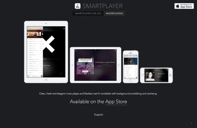 SmartPlayer for iOS   The minimilistic and intuitive Last.fm scrobbler for iPhone  iPod and iPad.
