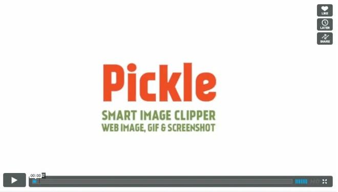 ページ内全ての画像をワンクリックで保存するアプリPickle