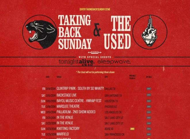 TAKING BACK SUNDAY 1