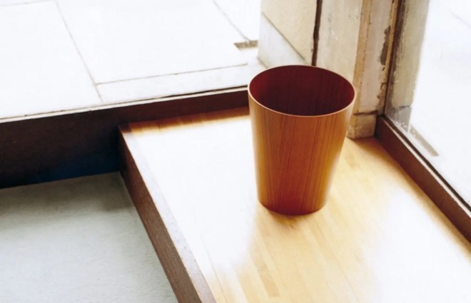 SAITO WOOD PAPER BASKET White Oak