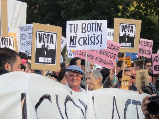 15-M-bevegelsen, oppkalt etter demonstrasjonsdatoen 5- mai 2011 –la grunnlaget for en ny spansk mentalitet. Foto: Lotta Elstad