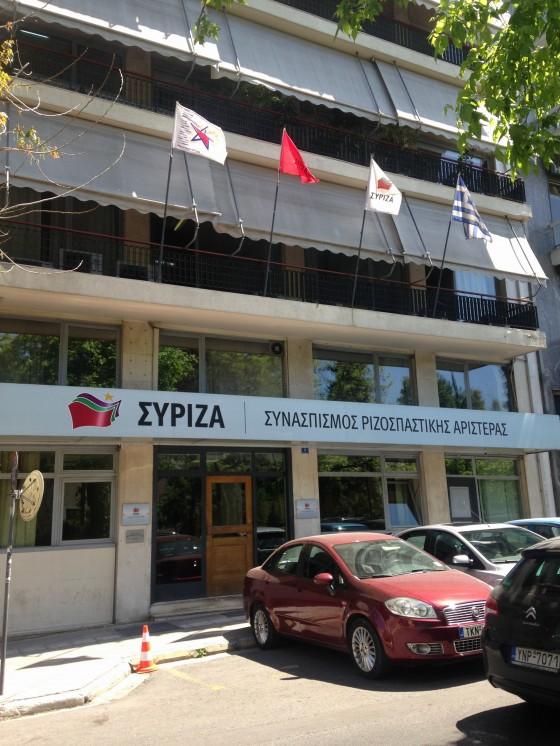 Syrizas hovedkontor i Aten