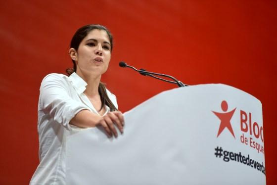 Ung økonom og frontfigur i Bloco de Esquerda, Mariana Mortágua. Foto: Bloco