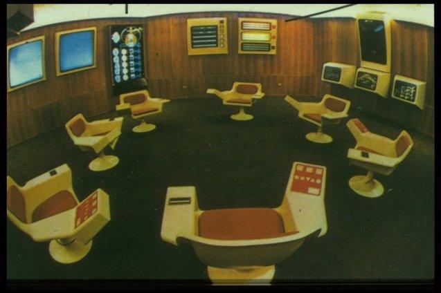Kontrollrommet til Salvador Allendes «Project Cybersyn». Foto: Wikipedia