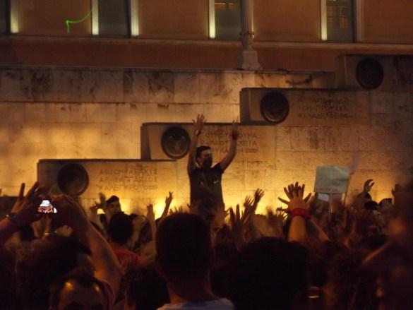 Syntagmabevegelsen i 2011. Foto: Rania Hatzi