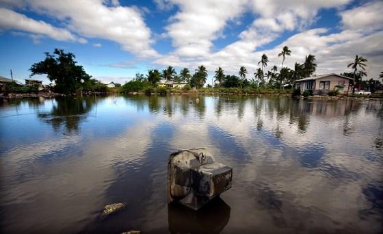 Fra Tonga og landsbyen Popua. Byen har en sårbar økonomi især mot eksterne krefter, og ble hardt ramt av finanskrisen. Byen Foto: Asian Development Bank/Flickr