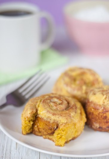 Gluten and Soy Free Vegan Pumpkin Cinnamon Rolls
