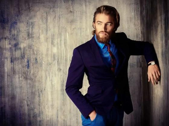 Portrait of a respectable handsome man in a suit. Men's fashion.
