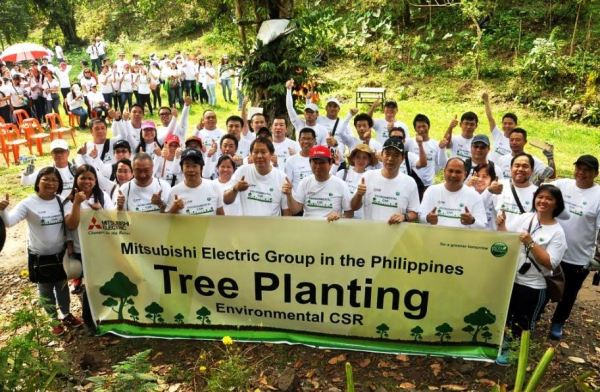 Mitsubishi Electric contributes to a greener Philippines