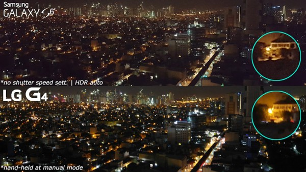 lg g4 vs galaxy s6 night