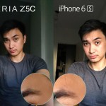 iphone 6s vs xperia z5 compact camera selfie front facing