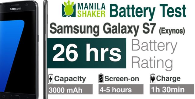 Samsung Galaxy S7 Battery Life Rating Review PHILIPPINES