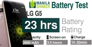 LG G5 battery life rating PC Mark