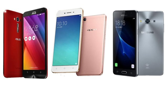 Budget Android Zenfone 2 Laser 5.5S vs Oppo A37 vs Samsung Galaxy J3 Pro Price Specs Review Comparison price Ph
