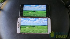 Display Samsung Galaxy C5 C7 Review vs iPhone 6s Comparison 13