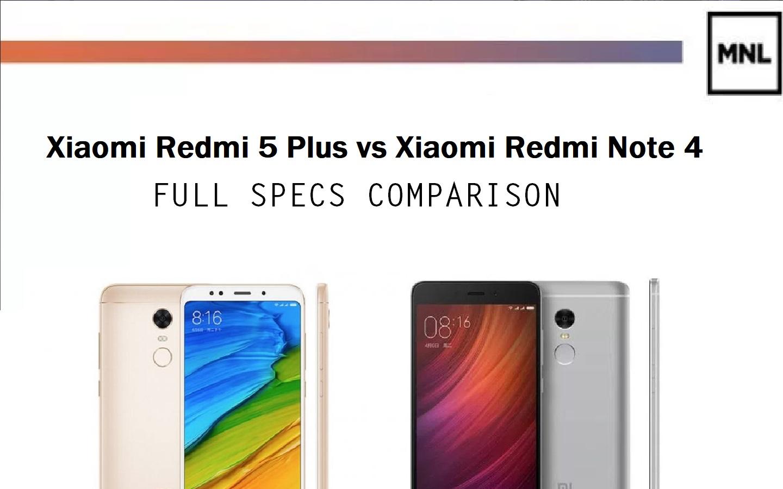 Xiaomi Redmi Note 4 Full Specification: Xiaomi Redmi 5 Plus Vs Redmi Note 4: Full Specs Comparison