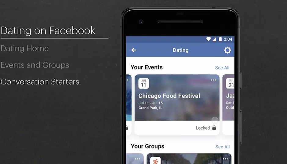 Facebook dating app features