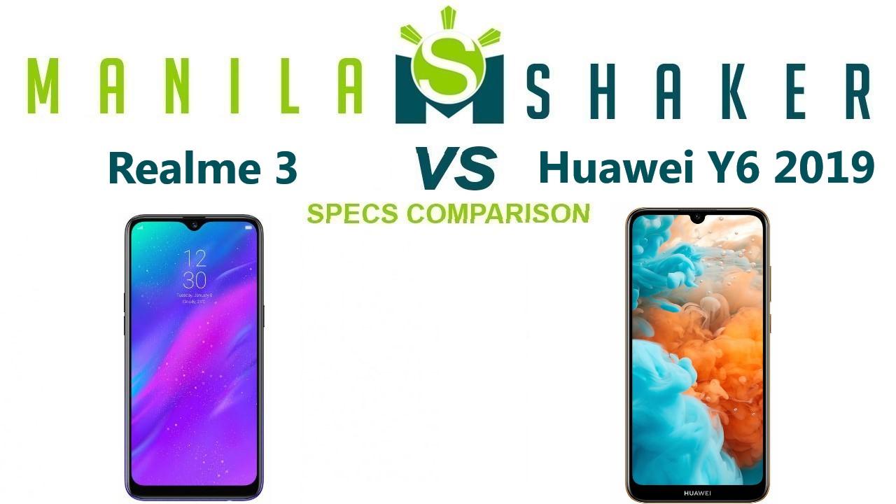 Huawei Y6 (2019) vs Realme 3 Specs Comparison - Which